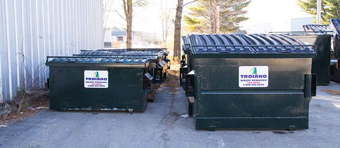Troiano Waste Services Commercial Side by Side Dumpsters