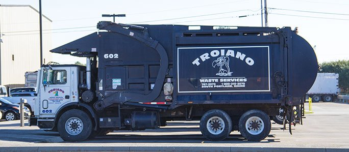 Troiano Waste Services Front End Loading Dumpster Truck
