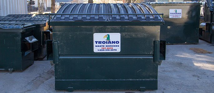 Troiano Waste Services Front Loading Commercial Dumpster