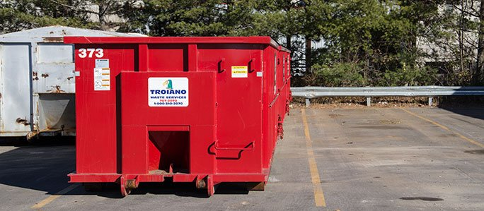Troiano Waste Services Residential Rollaway Dumpster