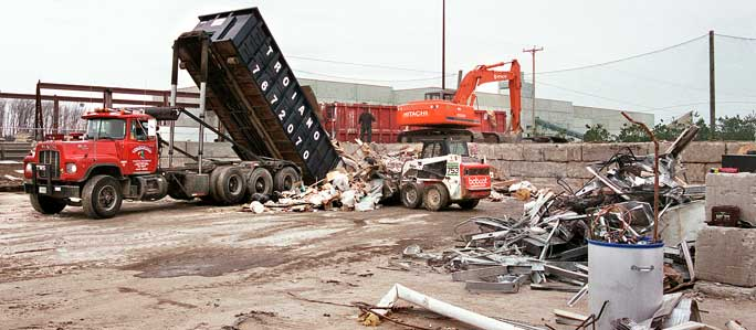 Troiano Waste Services Construction Site South Portland Maine