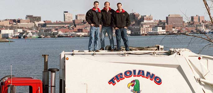 Troiano Family on top of truck portland maine