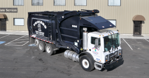 Troiano Truck in the front parking lot of their facility